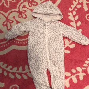 Fleece Bear Suit With Covered Hands and Feet